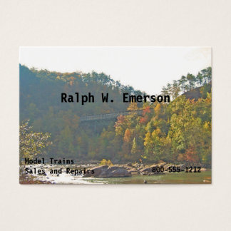 River Forest Train Trestle Bridge Business Card