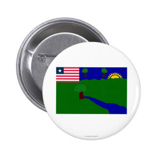 River Gee County Flag Button