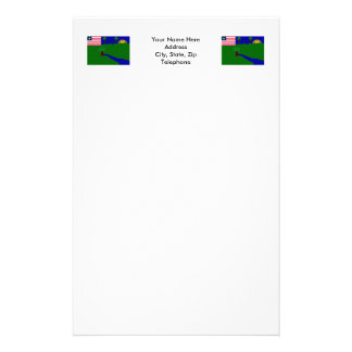 River Gee County Flag Stationery