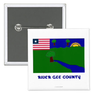 River Gee County Flag with Name Pin