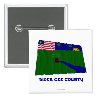 River Gee County Waving Flag with Name Pin