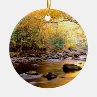 River Golden Smoky Tennessee Ceramic Ornament