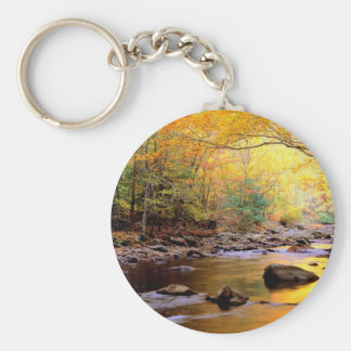River Golden Smoky Tennessee Key Chain