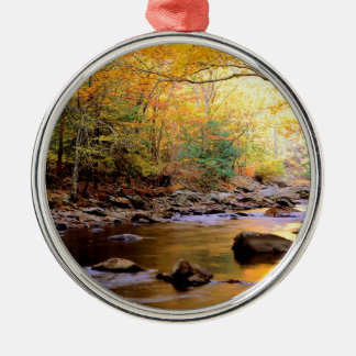 River Golden Smoky Tennessee Metal Ornament