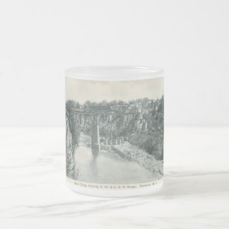 River Gorge Bridge, Rochester NY Vintage Frosted Glass Coffee Mug