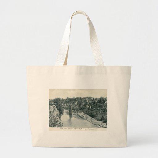 River Gorge Bridge, Rochester NY Vintage Tote Bag
