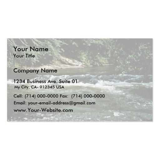 River Habitat Business Card