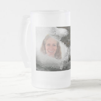 River Icicles Photo Frame Frosted Glass Beer Mug
