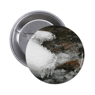 River Icicles Pinback Button