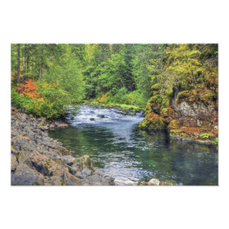 River in Autumn Photo Print