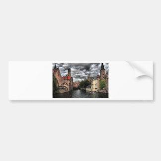 River in Bruges City, Belguim Bumper Sticker