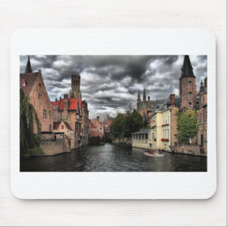 River in Bruges City, Belguim Mouse Pad
