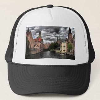 River in Bruges City, Belguim Trucker Hat