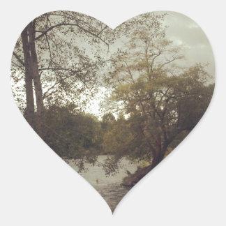 River in Eugene, OR Heart Sticker