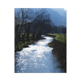 River in Lake District, England Canvas Print