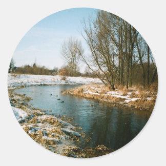 River In Lublin, Poland Classic Round Sticker
