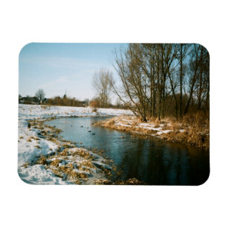 River In Lublin, Poland Magnet