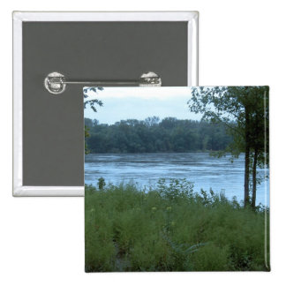 River in Missouri 2 Inch Square Button