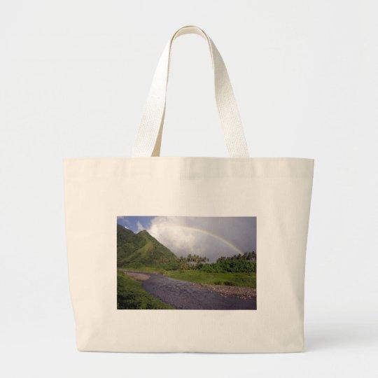 River in Teahupoo, Tahiti Large Tote Bag
