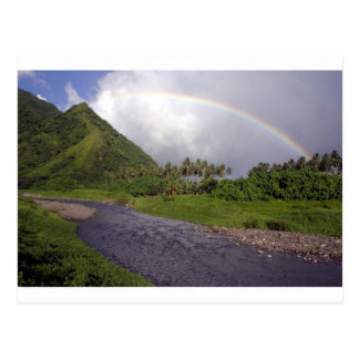 River in Teahupoo, Tahiti Postcard
