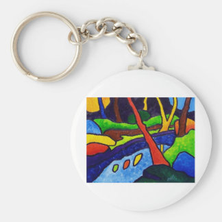 River in the Park Keychain