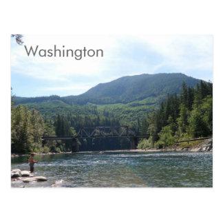 River in Washington State Postcard