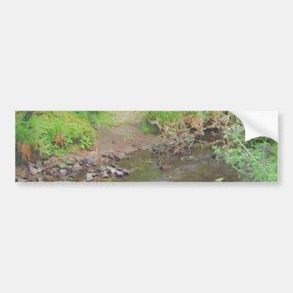 River in woodland. bumper sticker