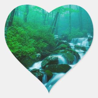 River Kentucky Summer Heart Sticker