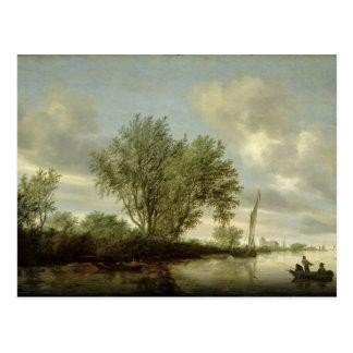 River Landscape, 1645 Postcard