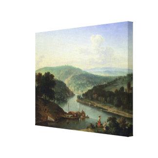 River Landscape, 1697 Canvas Print