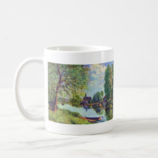 River landscape at Moret-sur-Loing by Sisley Classic White Coffee Mug