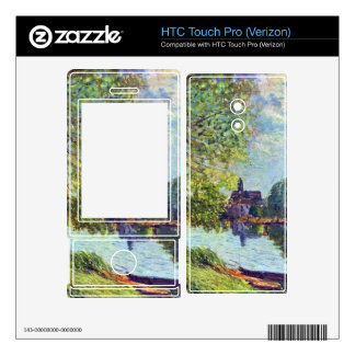 River landscape at Moret-sur-Loing by Sisley HTC Touch Pro Skins