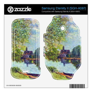 River landscape at Moret-sur-Loing by Sisley Samsung Eternity II Skins