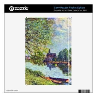 River landscape at Moret-sur-Loing Decals For Sony Reader