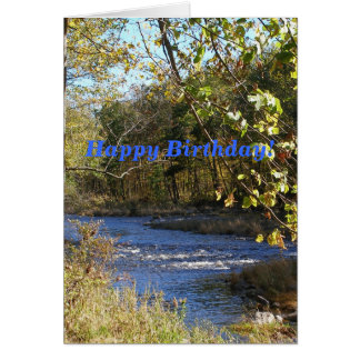 River Landscape Birthday Card