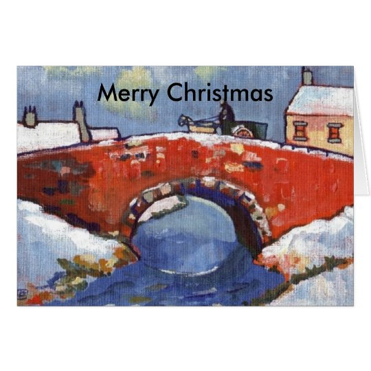 RIVER LANDSCAPE IN SNOW, Merry Christmas Card