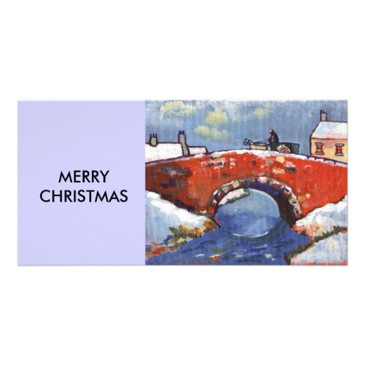 RIVER LANDSCAPE IN SNOW PERSONALIZED PHOTO CARD