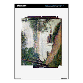 River Landscape with a boat iPad 3 Skins