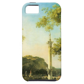 River Landscape with a Column by Canaletto iPhone SE/5/5s Case