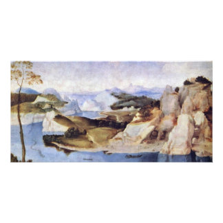 River Landscape With A Draftsman By Niederländisch Custom Photo Card