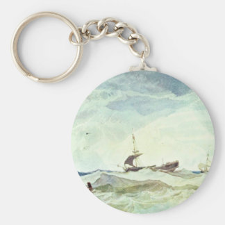 River Landscape With Cattle Herd By John Sell Cotm Key Chains