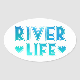 River Life Oval Sticker