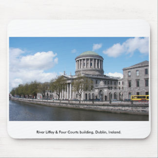 River Liffey & Four Courts, Dublin Ireland. Mouse Pad