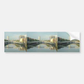 River Liffey In Dublin City Centre Car Bumper Sticker