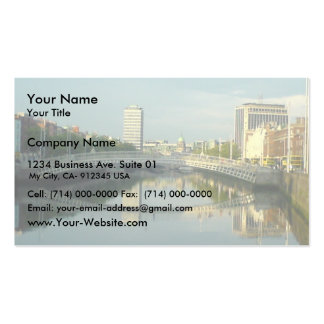 River Liffey In Dublin City Centre Business Cards