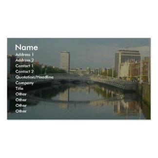 River Liffey In Dublin City Centre Business Card
