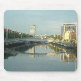River Liffey In Dublin City Centre Mousepads