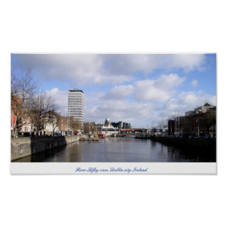 River Liffey Liberty Hall Dublin city Ireland Print