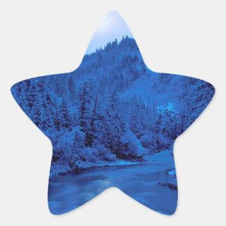 River Light Moon Scott Klamath Forest Star Sticker