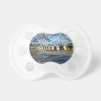 River Loire at Tours in France Baby Pacifier